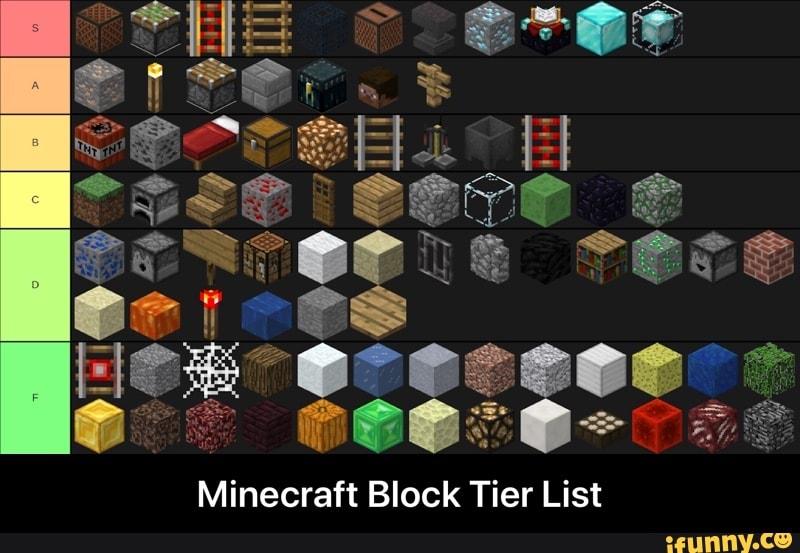 Minecraft Block Tier List Minecraft Block Tier List Ifunny