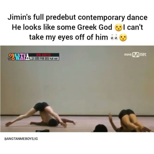 Jimin's full predebut contemporary dance, He looks like some Greek God wl  can't, take my eyes off of him &»wa