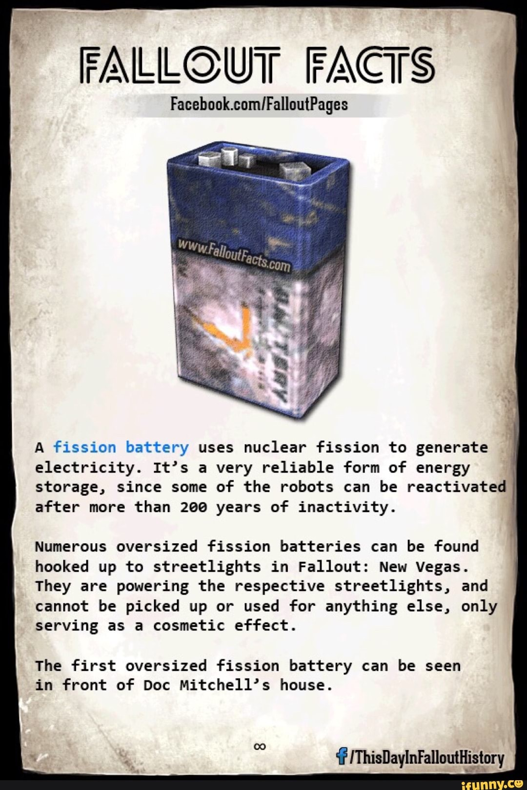 3 A fission battery uses nuclear fission to generate