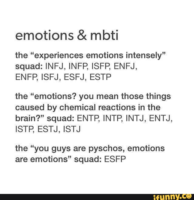 Emotions & mbti the