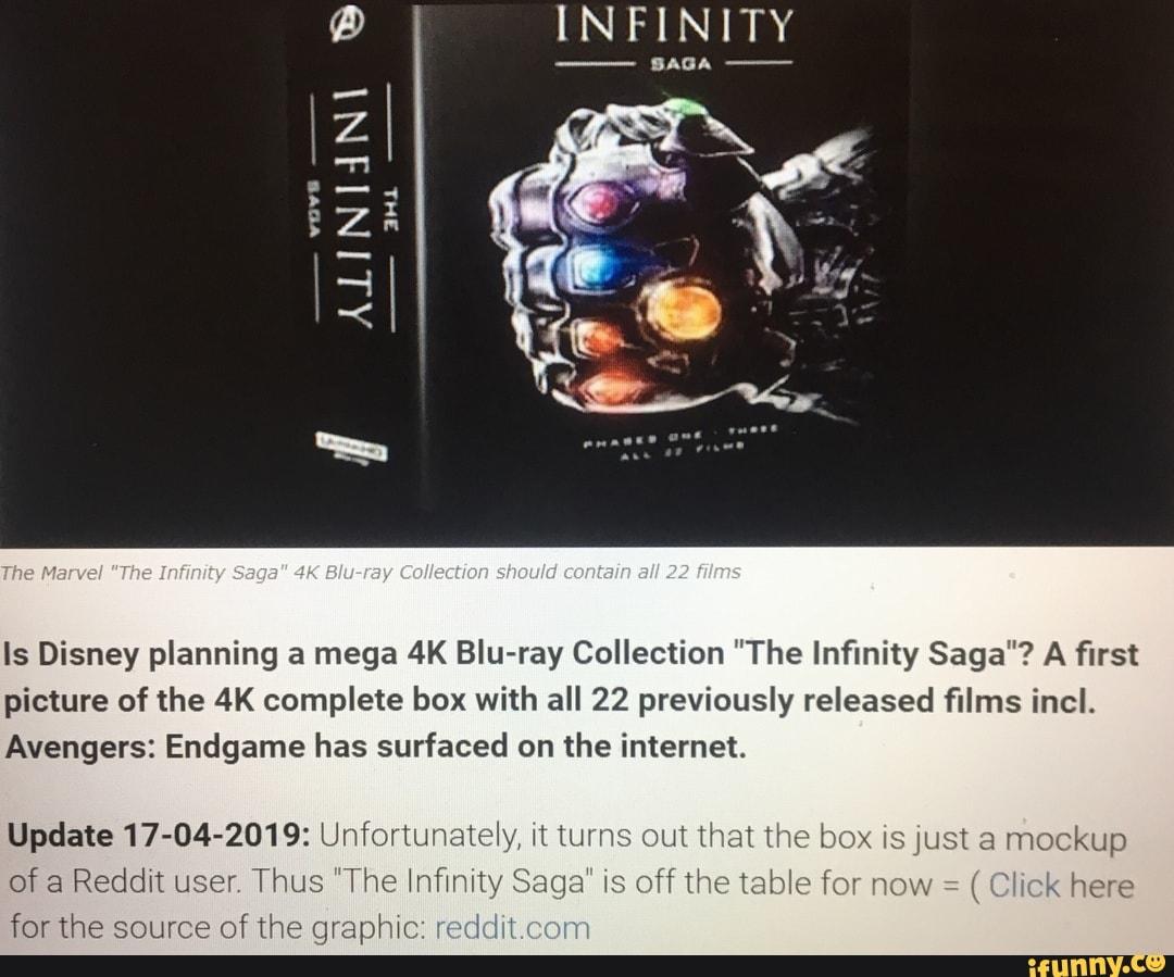 "Is Disney planning a mega 4K Blu-ray Collection ""The Infinity Saga"