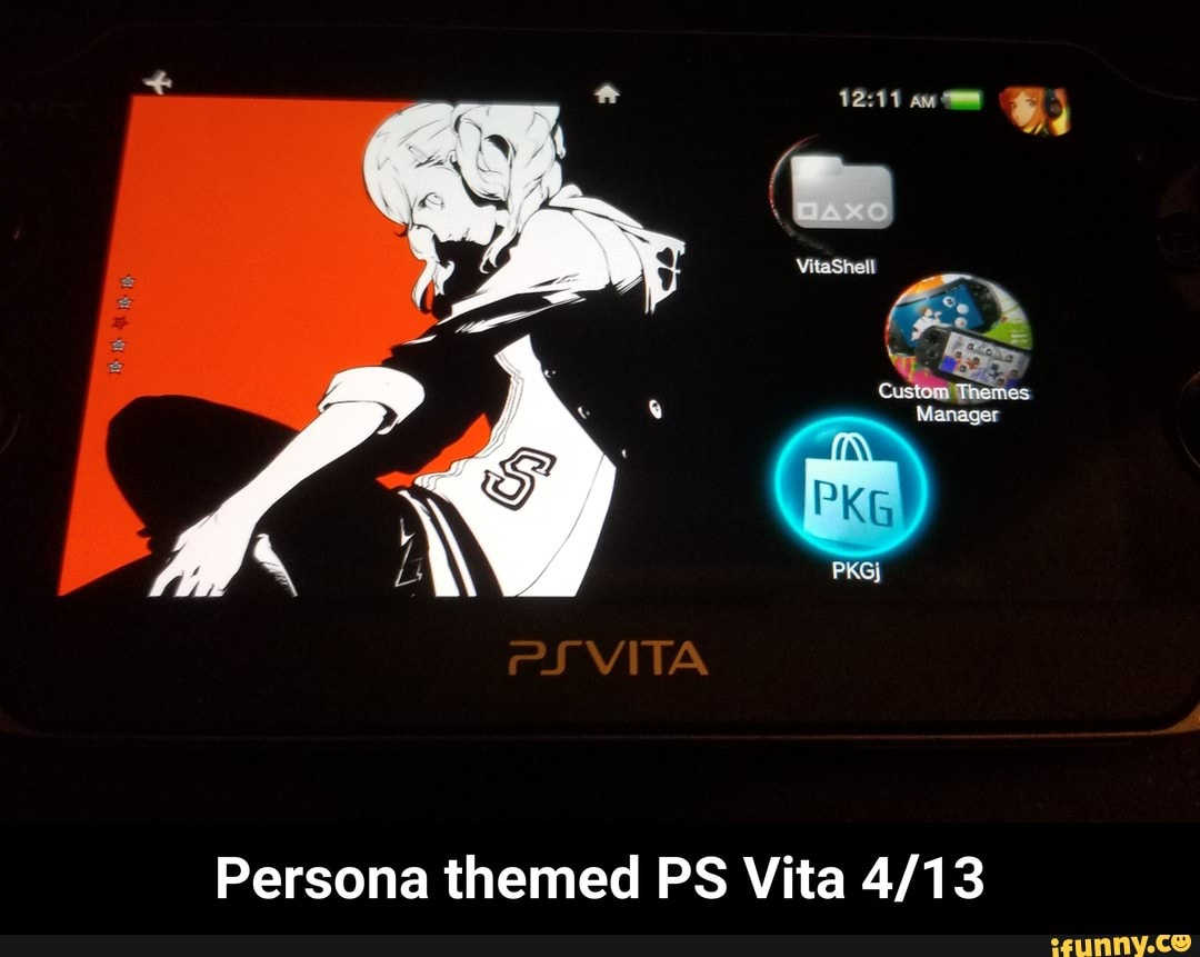 Persona themed PS Vita 4/13 - iFunny :)