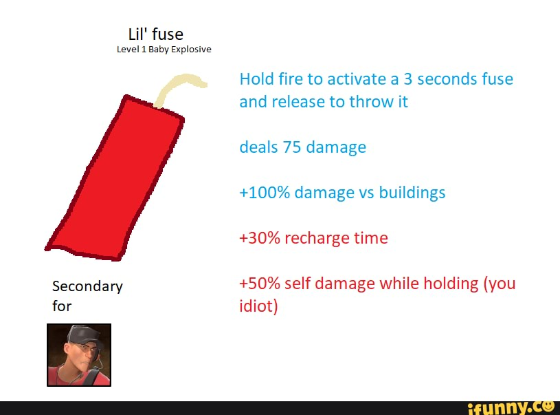 Lil U0026 39  Fuse Level 1 Baby Explosive Secondary For Hold Fire To Activate A 3 Seconds Fuse And