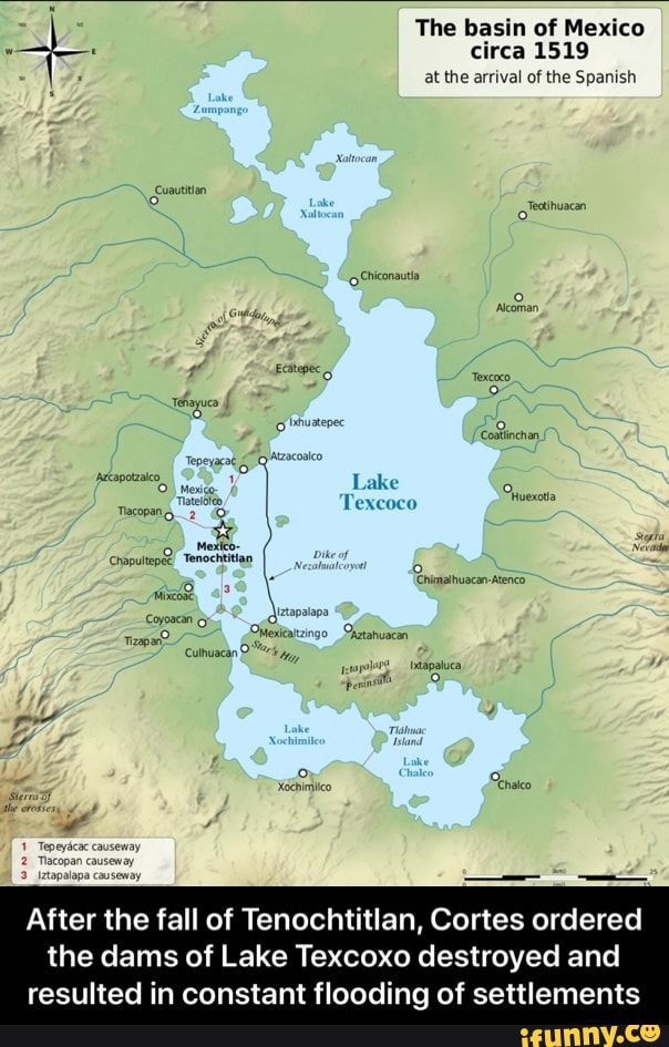 . clrca 1519 After the fall of Tenochtitlan, Cortes ...