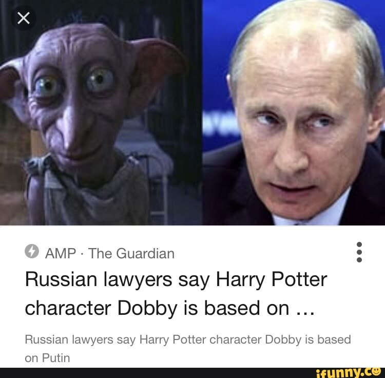 amp the guardian russian lawyers say harry potter character dobby is based on russian awyers say harry potter character dobby 5 based on putm ifunny ifunny