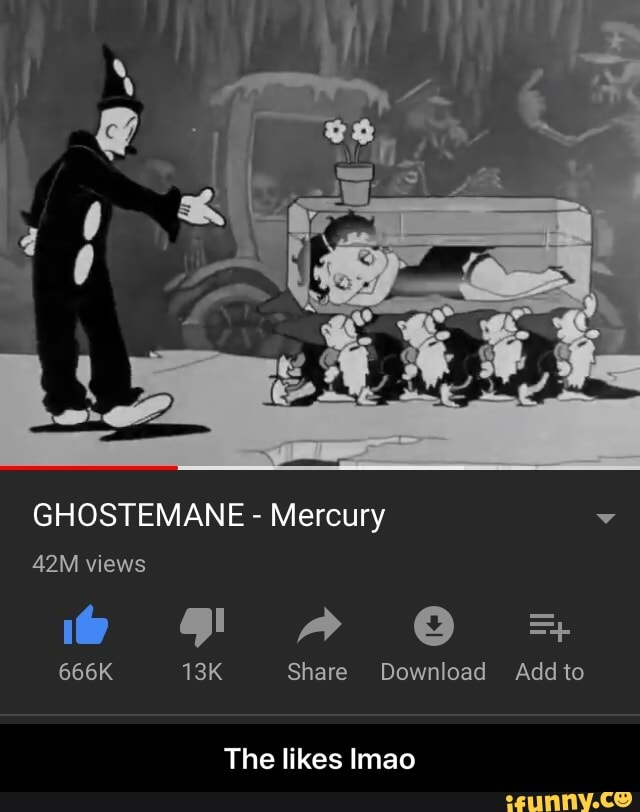 Ghostemane Mercury Cartoon Black And White Cartoon Gif By Trash