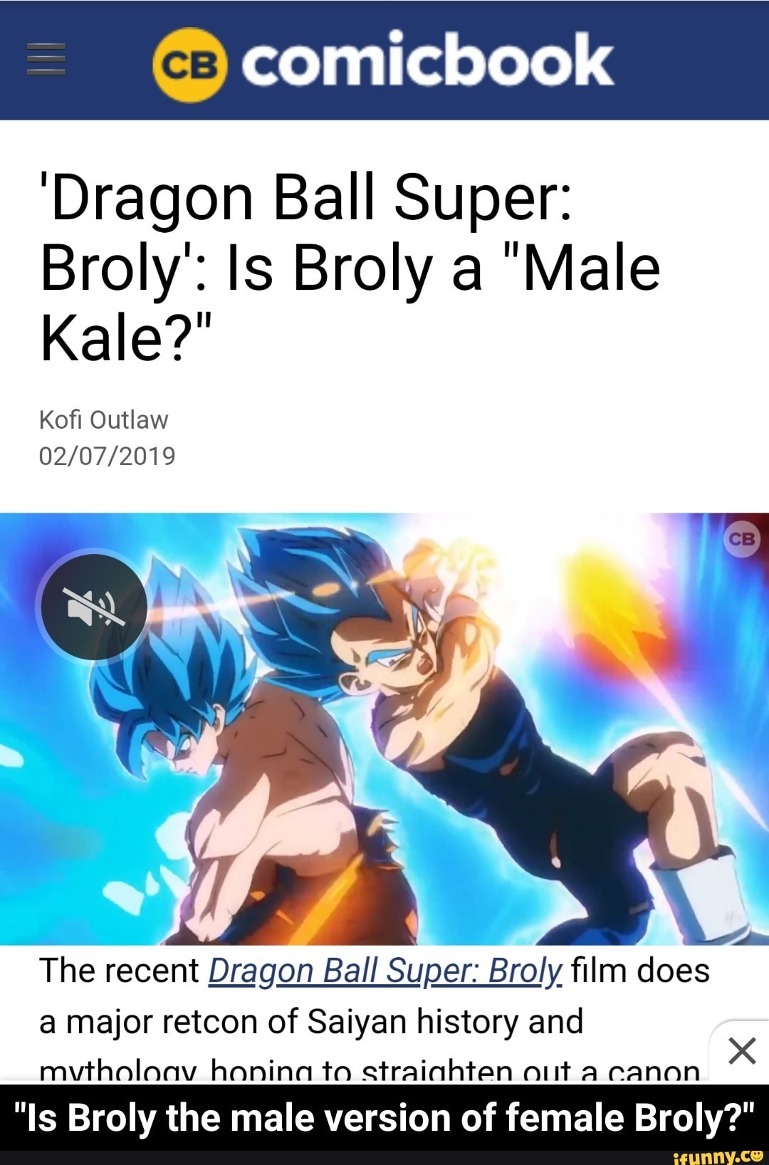 Dragon Ball Super Broly Is Broly A Male Kale Kofl Outlaw 02 07