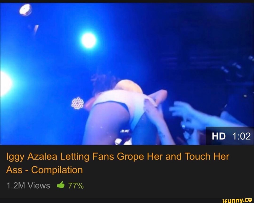 Ass Grope iggy azalea letting fans grope her and touch her ass