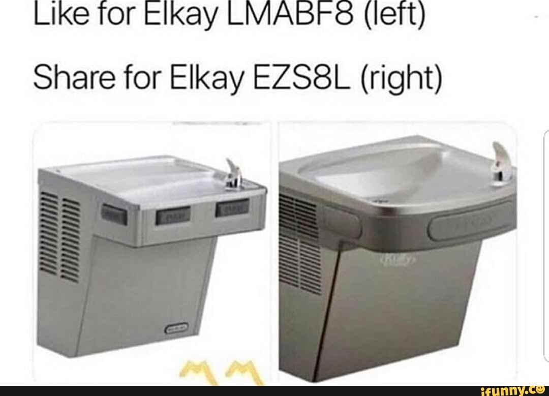 Like for Elkay LMABF8 (left) Share for Elkay EZS8L (right