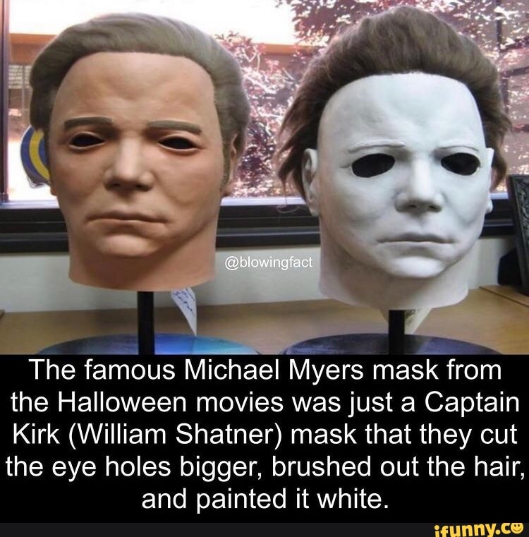 @biowingfact The famous Michael Myers mask from the Halloween movies ...