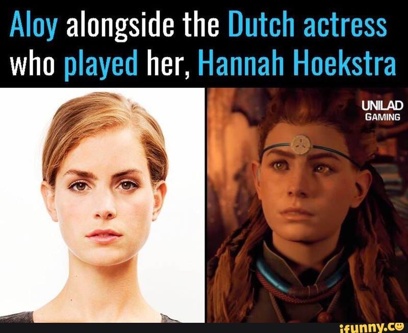 Aloy Alongside The Dutch Actress Who Played Her Hannah