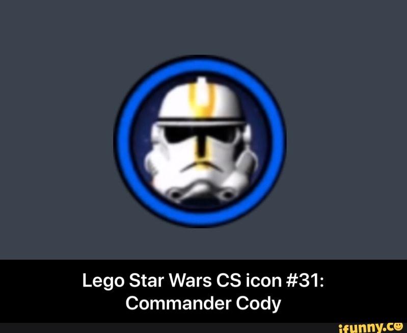 Lego Star Wars 05 Icon 31 Commander Cody Lego Star Wars Cs