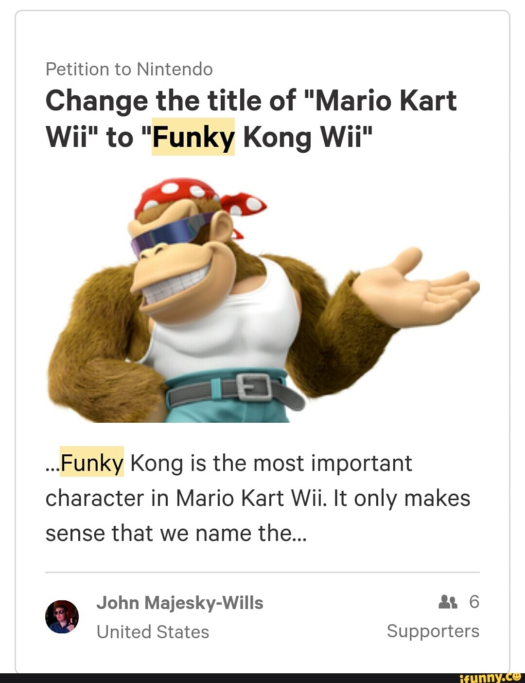 Petition To Nintendo Change The Title Of Mario Kart Wii To