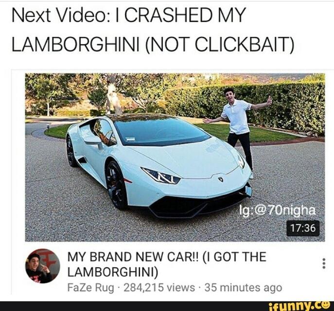 I CRASHED MY LAMBORGHINI (NOT CLICKBAIT