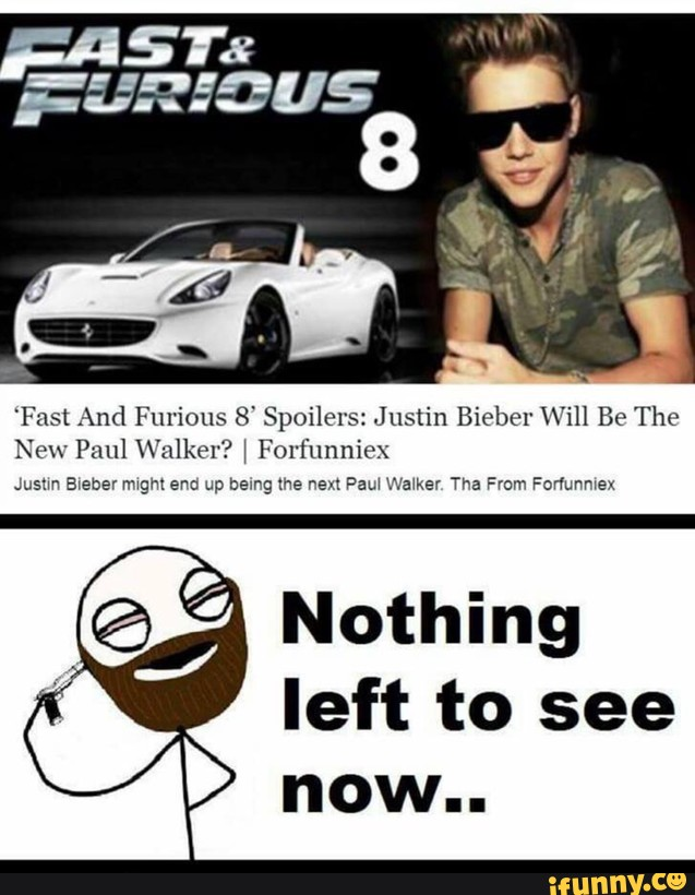 is justin bieber playing in the new fast and furious