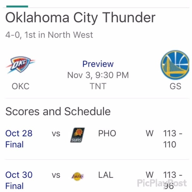 aahoma city thunder w preview nov 3 9 30 pm okc tnt gs ifunny ifunny