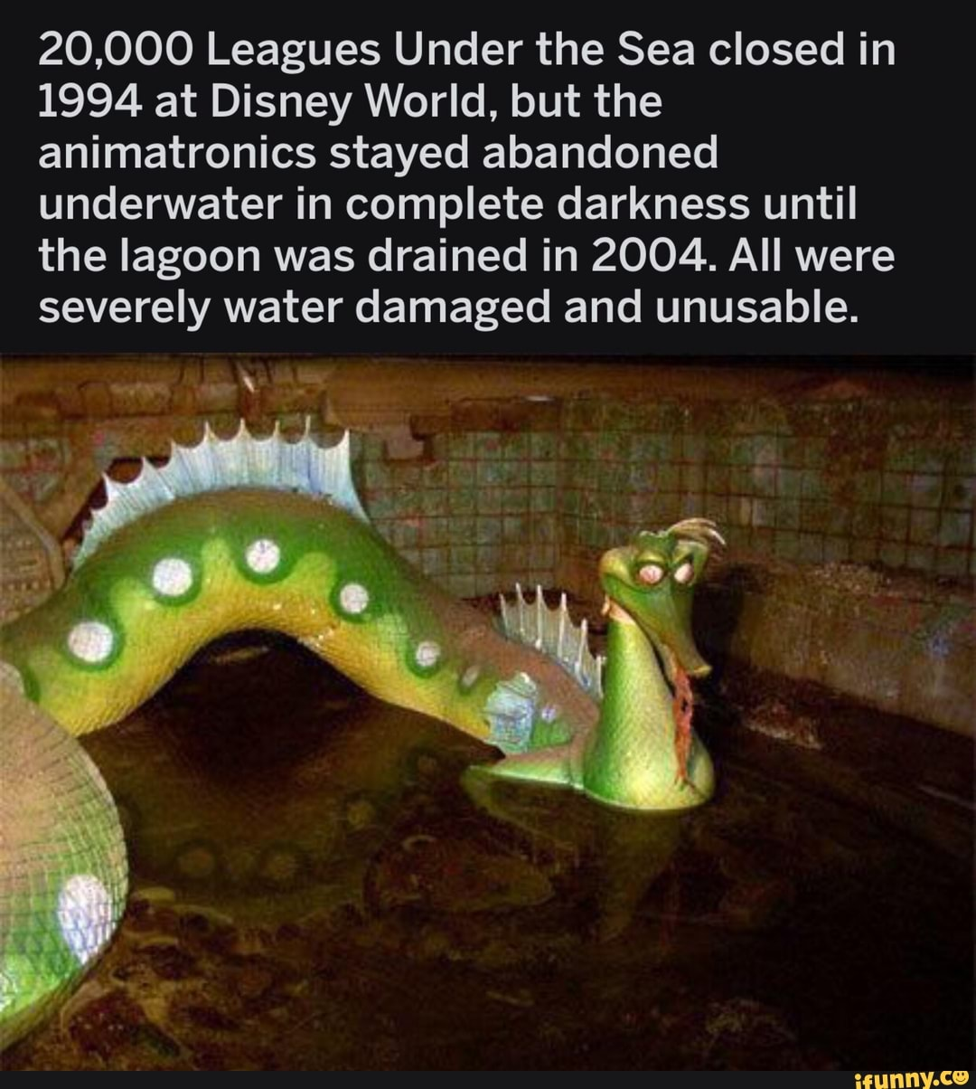 20,000 Leagues Under The Sea Closed In 1994 At Disney