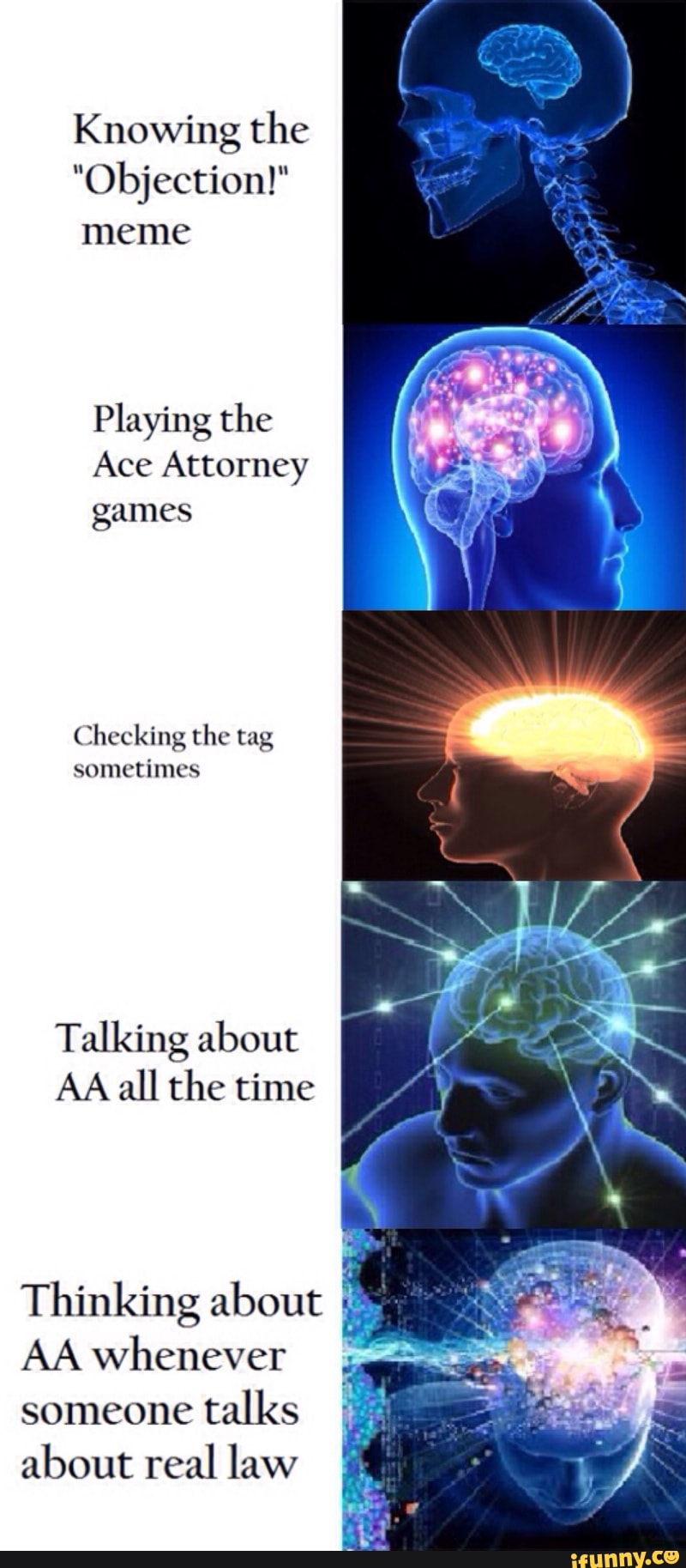 Knowing The Objection Meme Playing The Ace Attorney Games