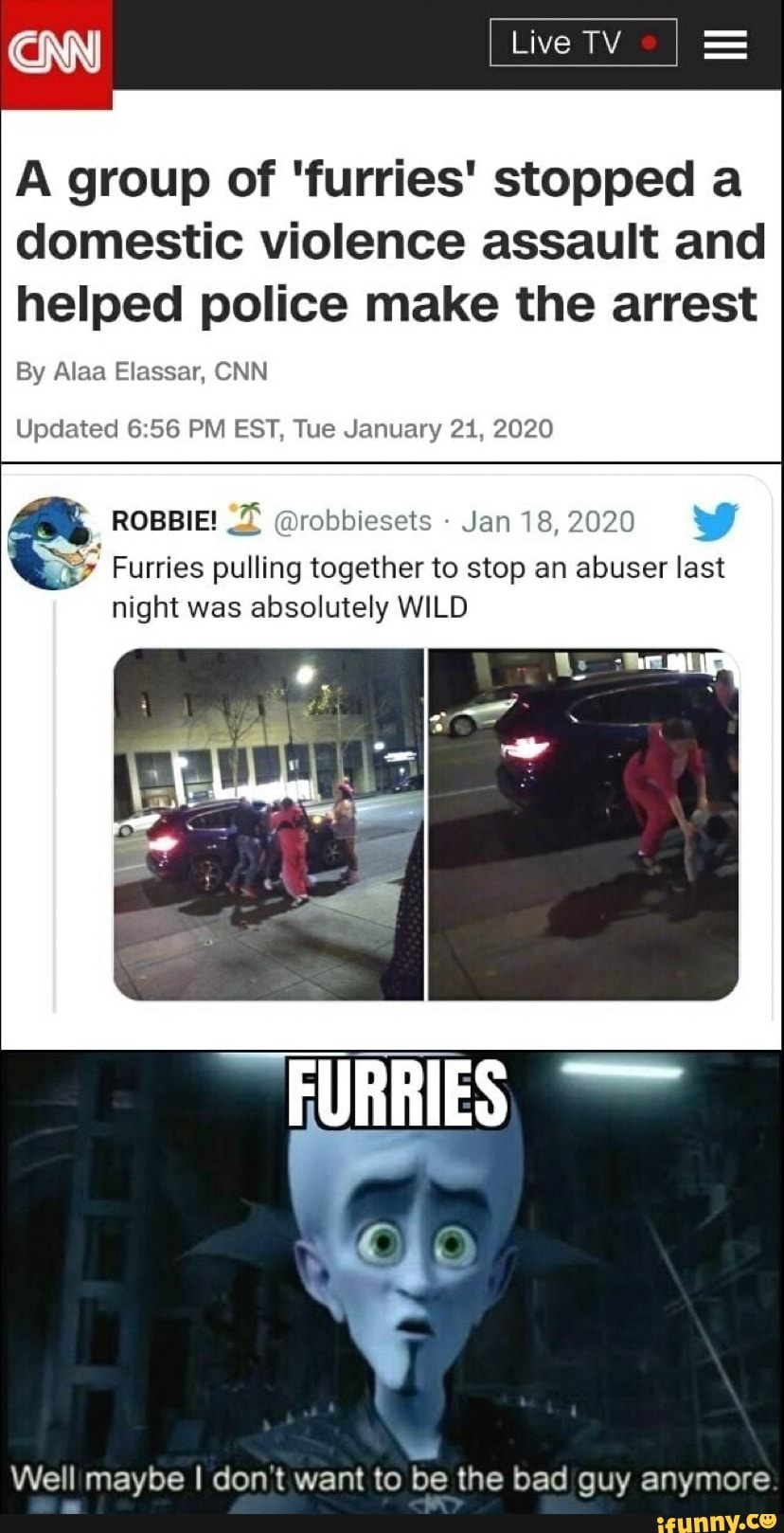 CNN) Live TV A group of 'furries' stopped a domestic ...
