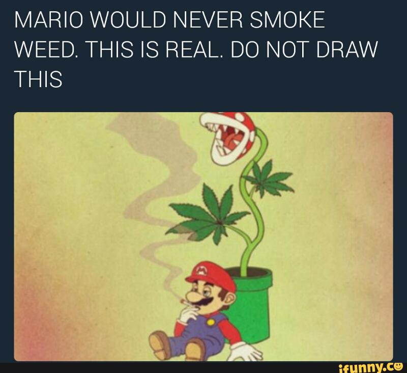 Mario Would Never Smoke Weed This Is Real Do Not Draw This