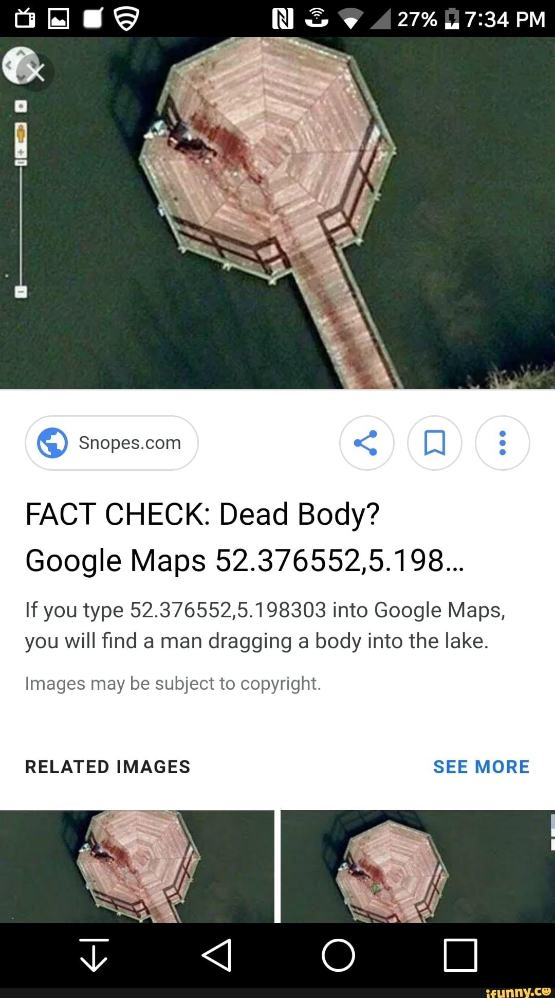 FACT CHECK: Dead Body? Google Maps 523765525198    If you