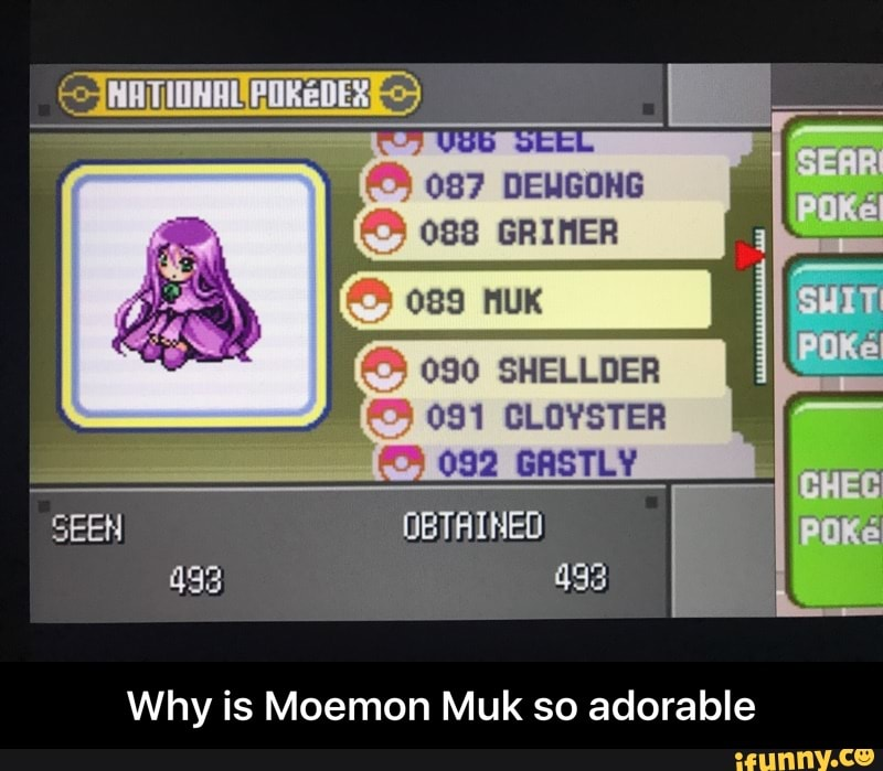 Why is Moemon Muk so adorable - iFunny :)