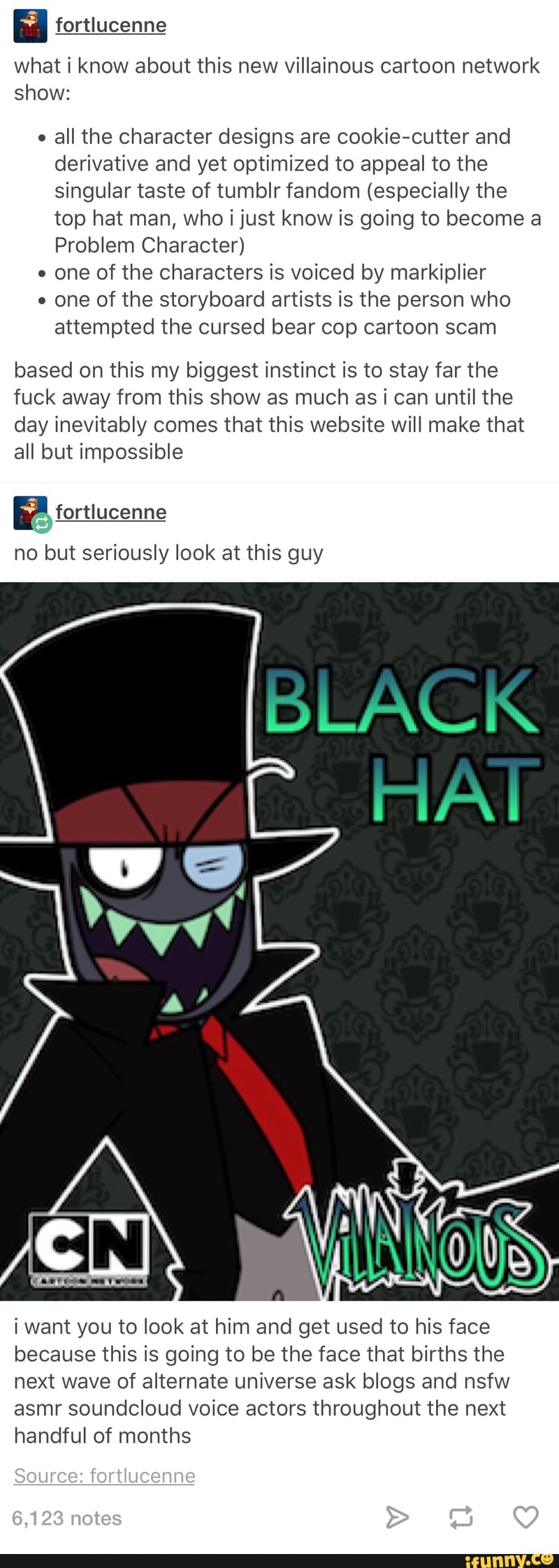 Fortlucenne what i know about this new villainous cartoon