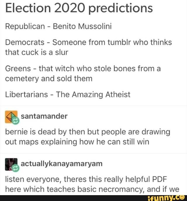 2020 Election Predictions Republicans