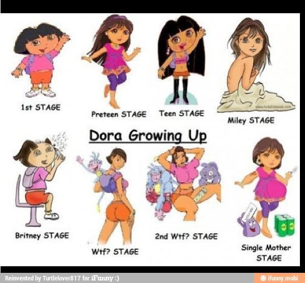 Preteen Stage Teen Miley Dora Growing Up Ifunny