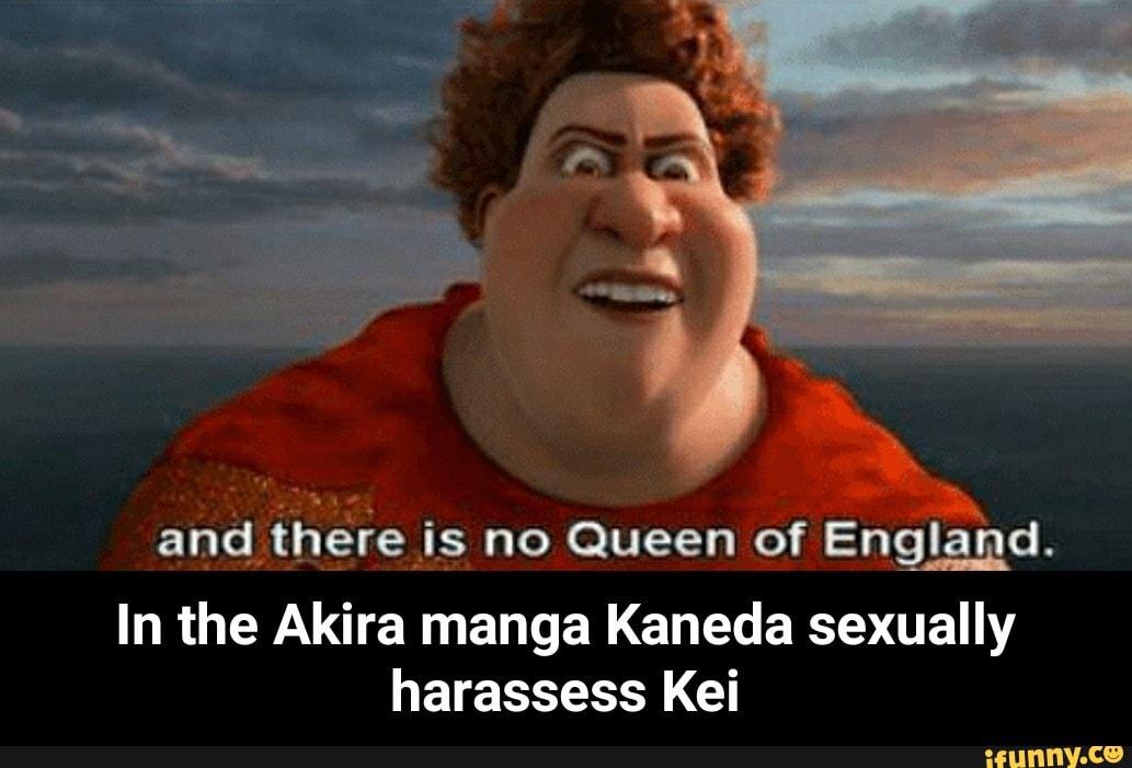 In The Akira Manga Kaneda Sexually Harassess Kei Ifunny