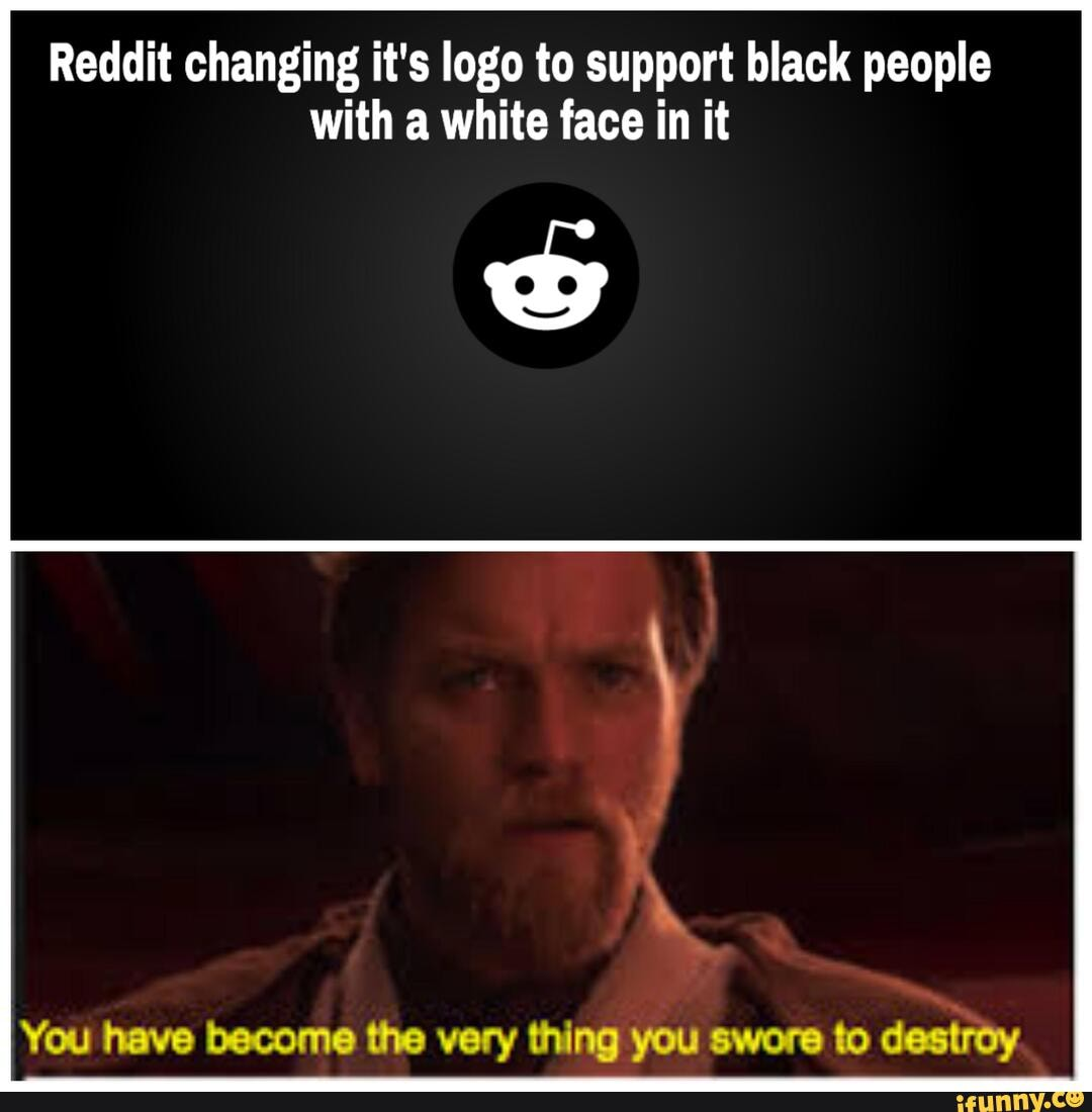 Reddit changing it's logo to support black people with a ...
