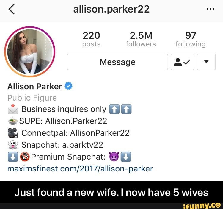Parker22 allison Allison parker