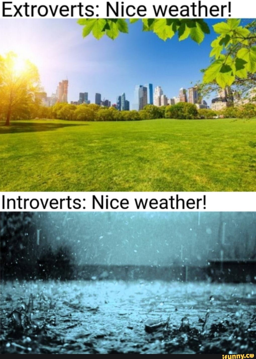 Extroverts Nice Weather Ifunny