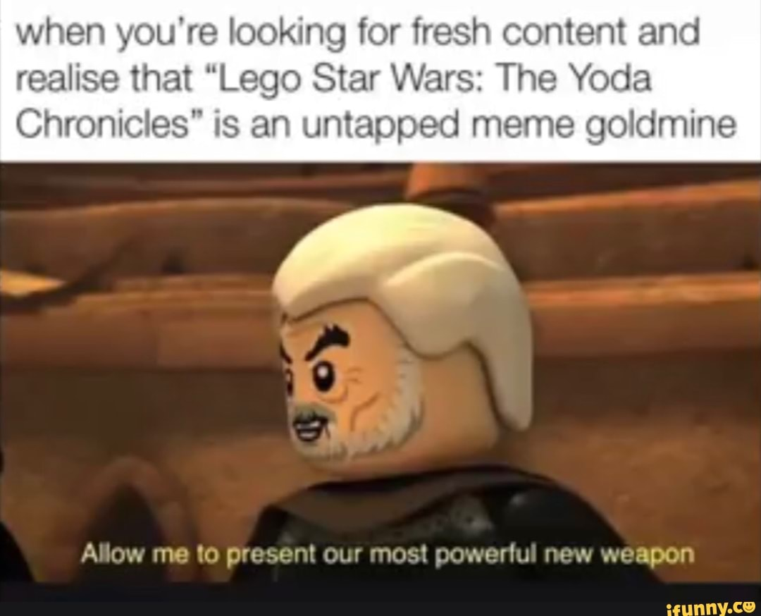 When You Re Looking For Fresh Content And Realise That Lego Star