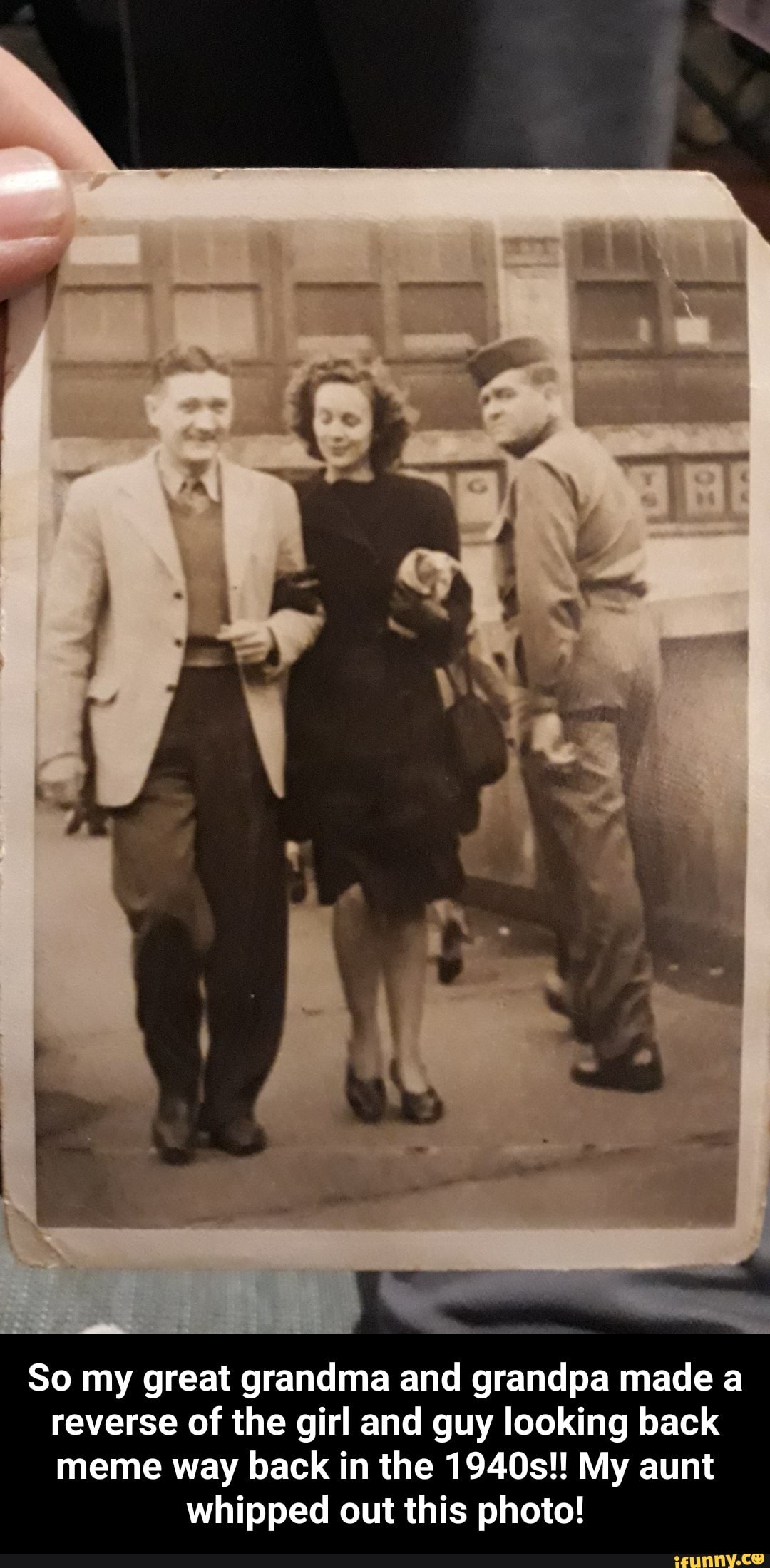 So My Great Grandma And Grandpa Made A Reverse Of The Girl And Guy Looking Back So My Great Grandma And Grandpa Made A Reverse Of The Girl And Guy Looking