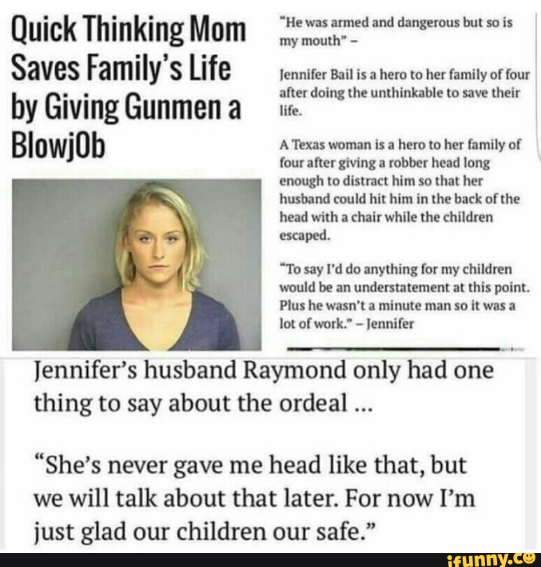 Quick Thinking Mom Saves Familys Life by Giving Gunmen a