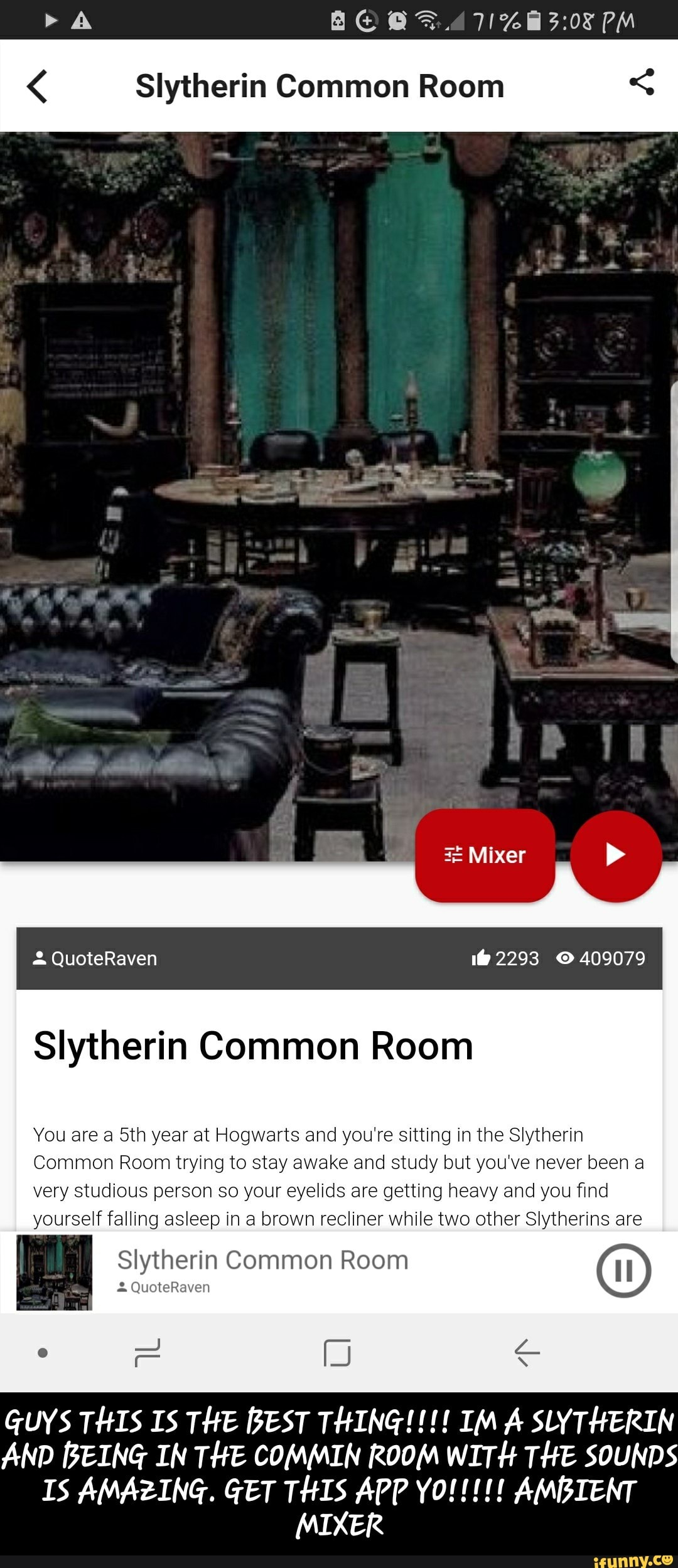 Ambient Mixer siytherin common room < siytherin common room you are a 5m