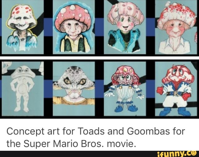 Concept Art For Toads And Goombas For The Super Mario Bros Movie Ifunny