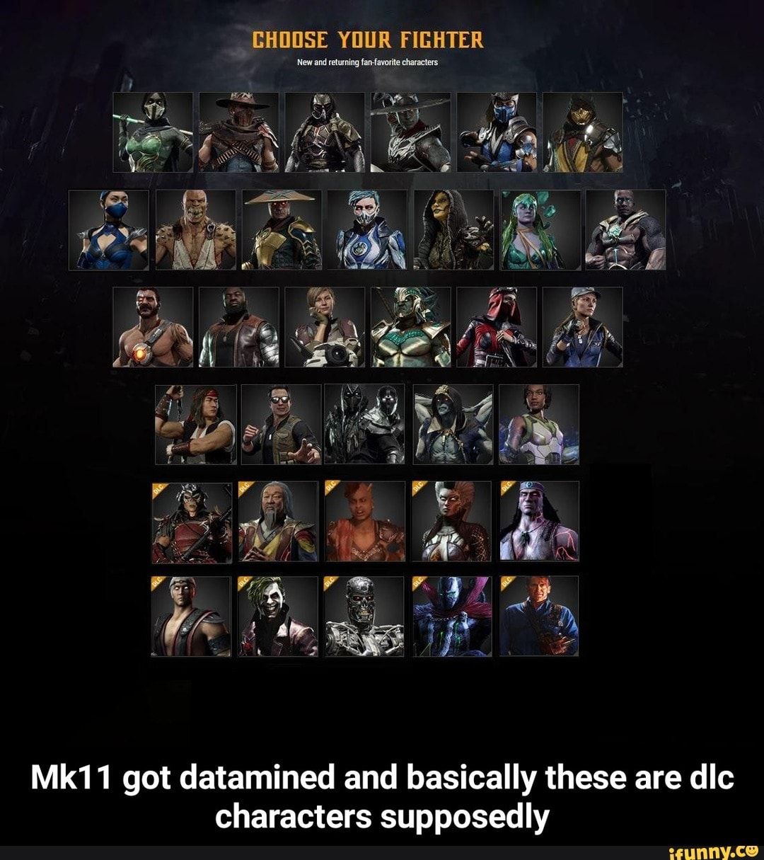 Mk11 got datamined and basically these are dlc characters