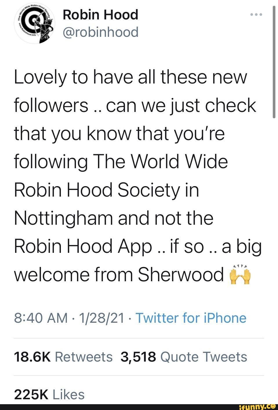 Is this what everyone's talking about   Robin Hood SS robinhood ...