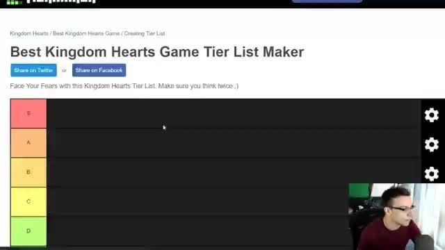 Best Kingdom Hearts Game Tier List Maker