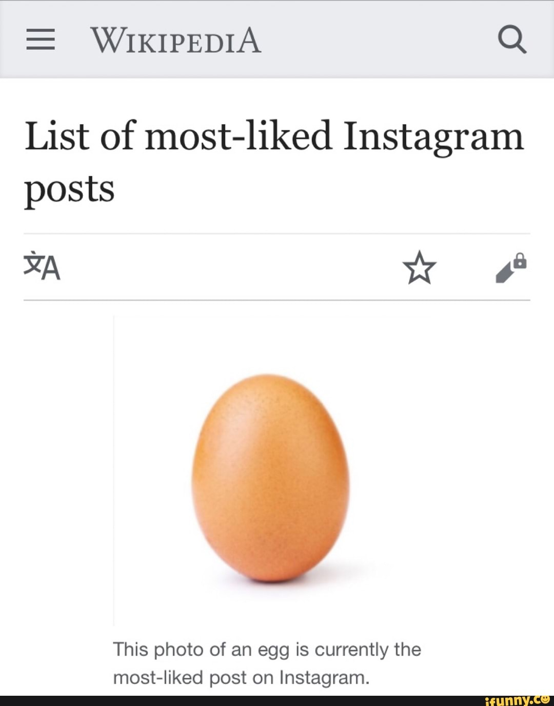 List of most-liked Instagram p...