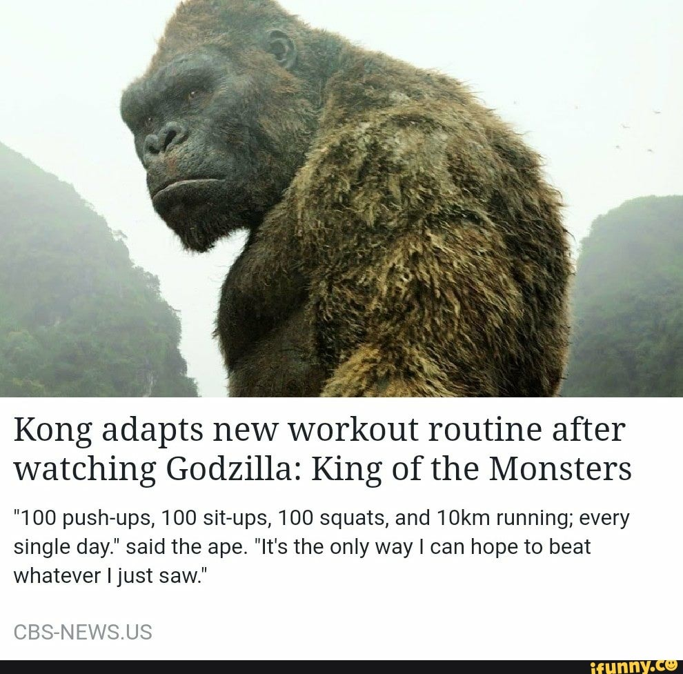 Kong adapts new workout routine after watching Godzilla