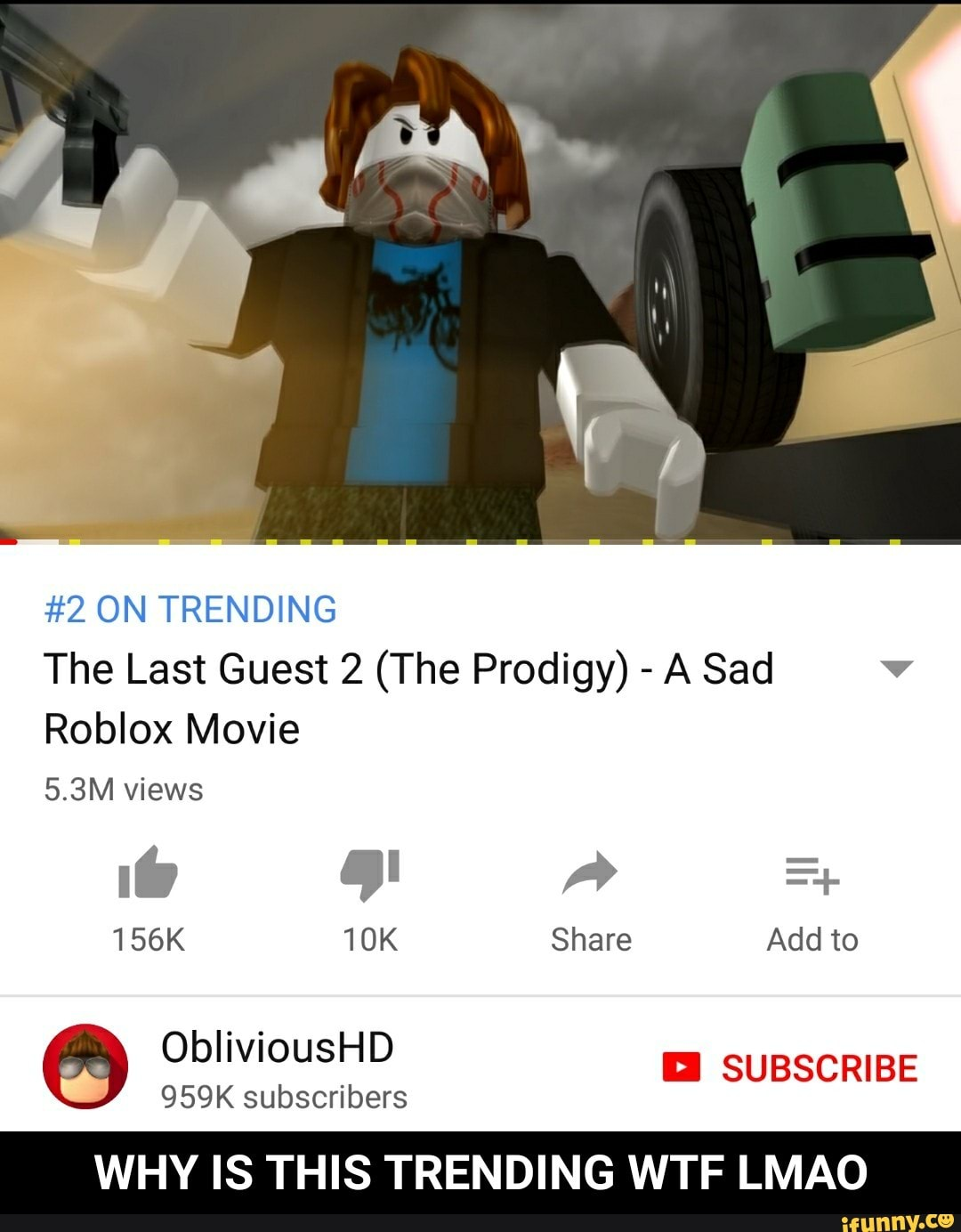 Is This Trending The Last Guest 2 The Prodigy Wtf A Sad Roblox