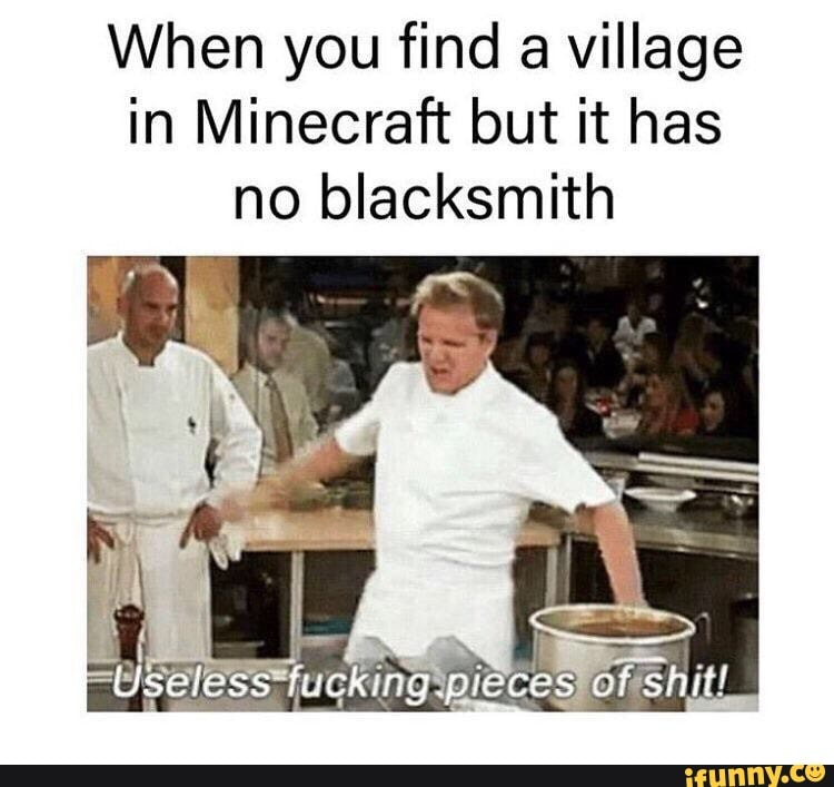 When you find a village in Minecraft but it has no