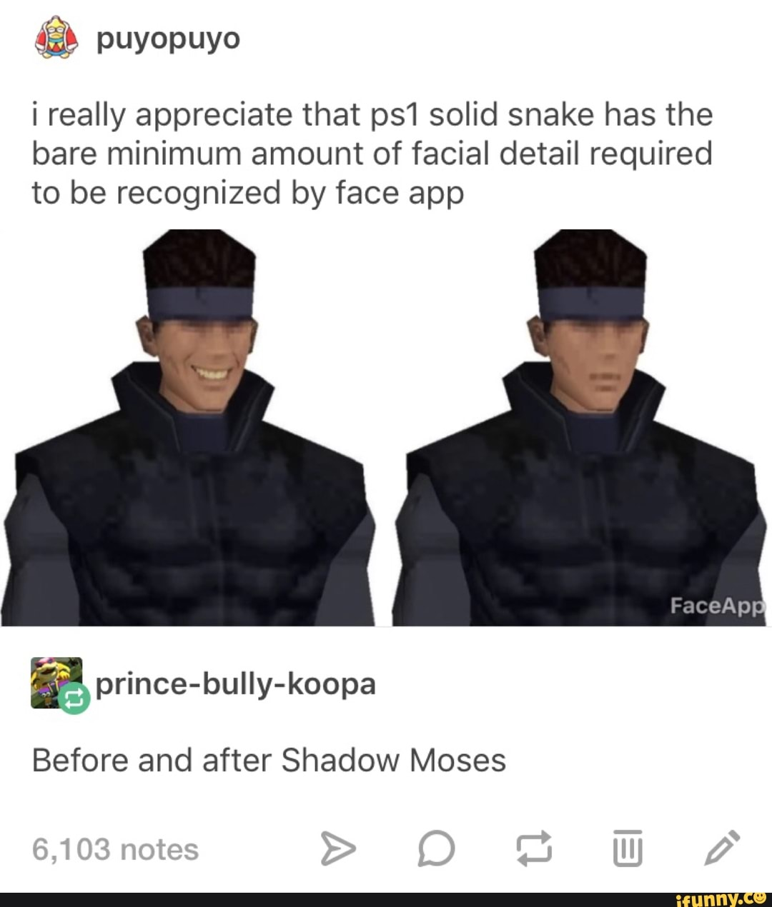 I Really Appreciate That Ps1 Solid Snake Has The Bare