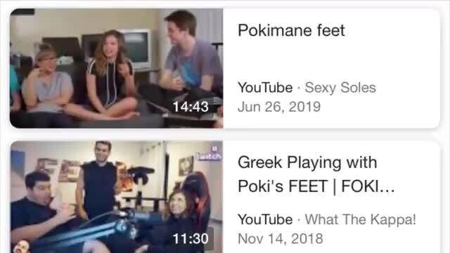 Feet pokimane Pokimane :