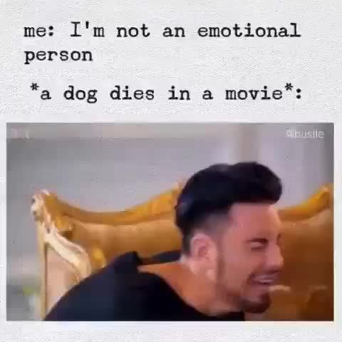 """me: I'm not an emotional, person *a dog dies in &, movie"""":"""