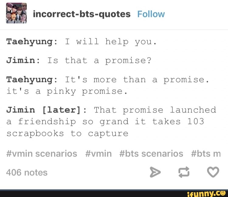 incorrect bts quotes taehyung i will help you jimin is that a