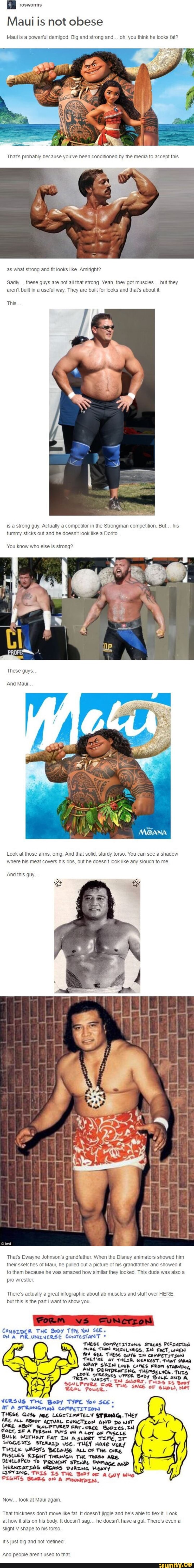 I rosworms Maui is not obese Maui IS a powerful aemlgod Big